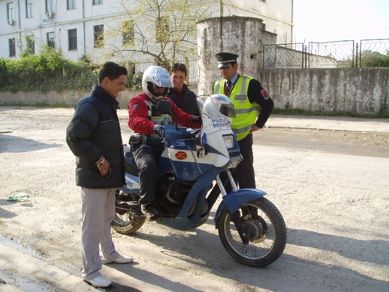 Albanian traffic cops - very riendly