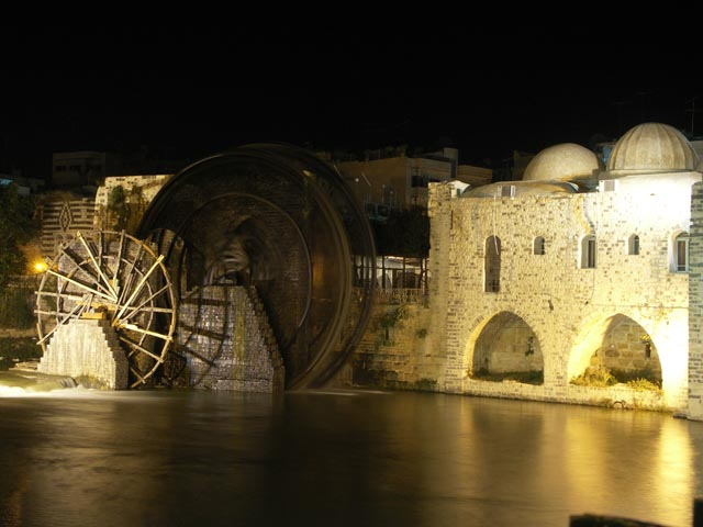 One of Hama's many waterwheels