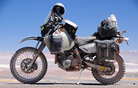Second Bike - Suzuki DR650 - AKA Rosie (Click to View Build and usage review)
